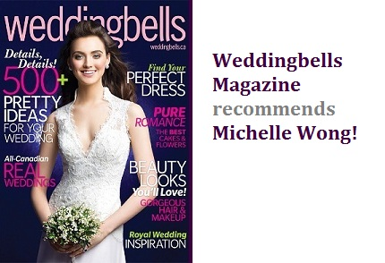 Weddingbells Magazine recommends Michelle Wong Makeup and Hair!